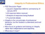 integrity in professional ethics