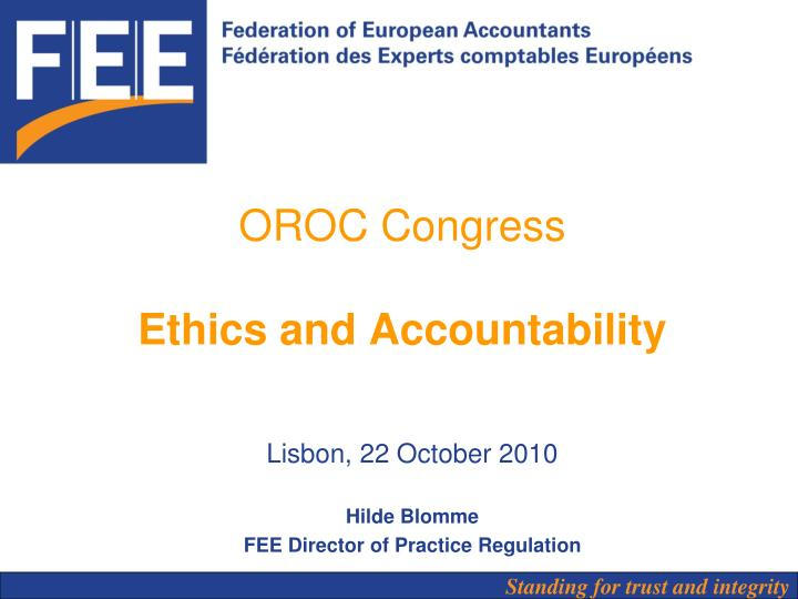 oroc congress ethics and accountability n.