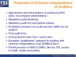 proposals to enhance independence of auditors