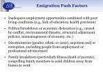emigration push factors