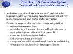 overview u n convention against transnational organised crime 20001