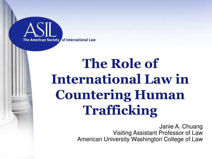 the role of international law in countering human trafficking n.