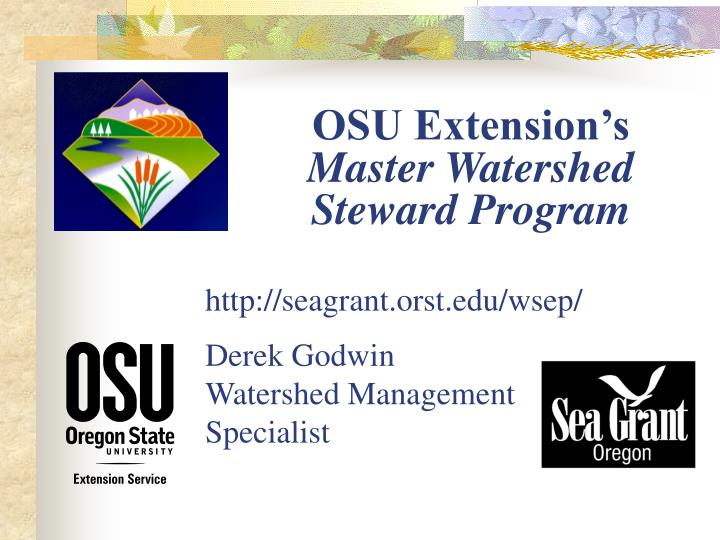 osu extension s master watershed steward program n.