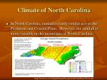 climate of north carolina