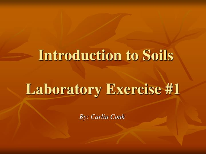 introduction to soils n.