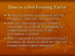 time as a soil forming factor