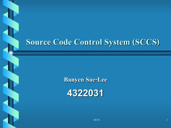 source code control system sccs n.