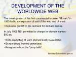 development of the worldwide web