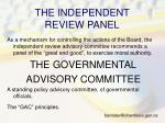 the independent review panel