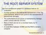 the root server system
