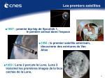 les premiers satellites