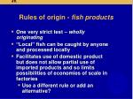rules of origin fish products