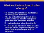 what are the functions of rules of origin