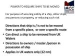 power to require ships to be moved