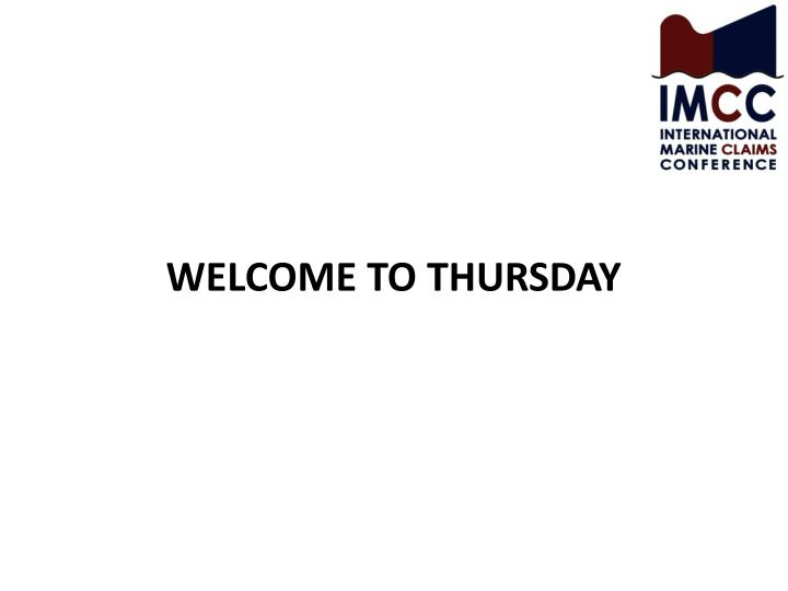 welcome to thursday n.
