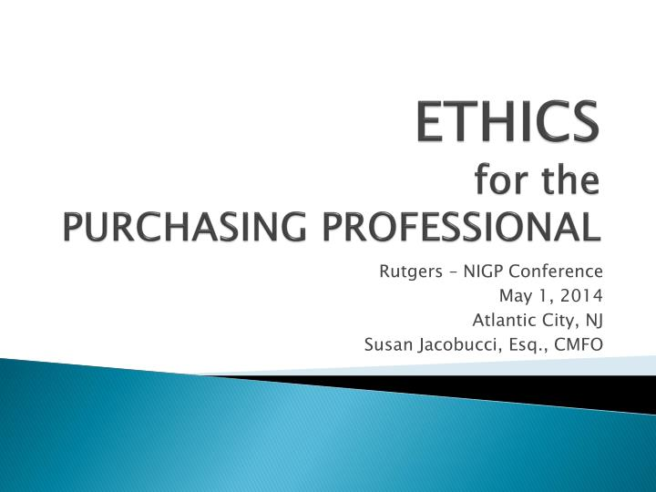 ethics for the purchasing professional n.