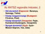 az ntsz region lis int zetei 2