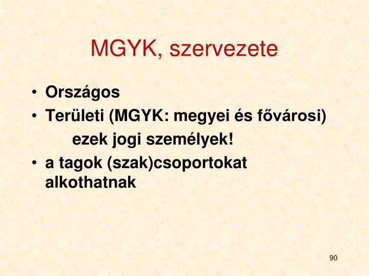 MGYK, szervezete