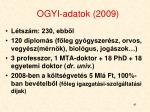 ogyi adatok 2009