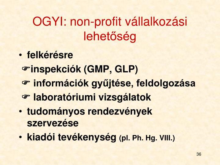 OGYI: non-profit vállalkozási lehetőség