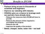 benefits to jfcom