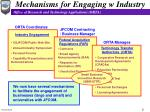 mechanisms for engaging w industry