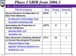 phase i sbir from 2006 3