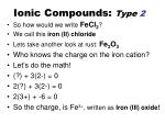 ionic compounds type 22