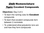 topic covalent compounds