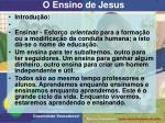 o ensino de jesus