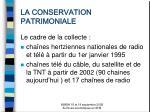 la conservation patrimoniale