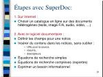 tapes avec superdoc
