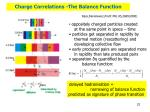 charge correlations the balance function