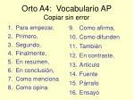 orto a4 vocabulario ap copiar sin error