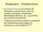 vocabulario infraestructura