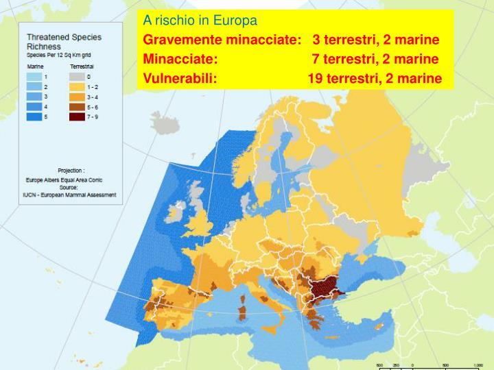 A rischio in Europa
