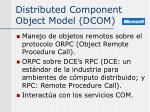 distributed component object model dcom