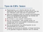tipos de ejb s sesion
