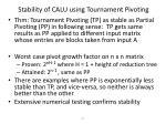 stability of calu using tournament pivoting