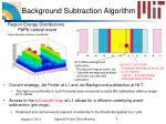 background subtraction algorithm