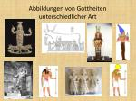 abbildungen von gottheiten unterschiedlicher art