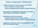 ocean leadership s participation