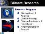 climate research
