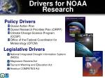 drivers for noaa research