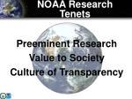 noaa research tenets