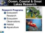 ocean coastal great lakes research