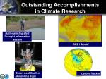 outstanding accomplishments in climate research