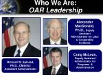 who we are oar leadership