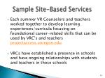 sample site based services