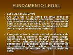 fundamento legal